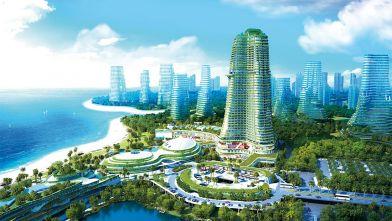 Toàn cảnh Khu đảo - Dự án Forest City Malaysia - Tháng 2/2020