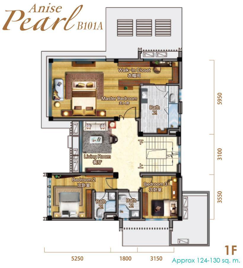 Biệt thự Biển - B101 - 417m2-435m2 (Anise Pearl)
