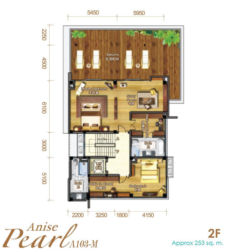 Biệt thự Biển - A103 - 858m2 (Anise Pearl)